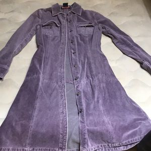 Nautical Purple trench coat, never worn